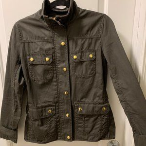 J. Crew Women's Dark Green Wax Jacket